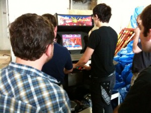 Playing some MAME after the meeting