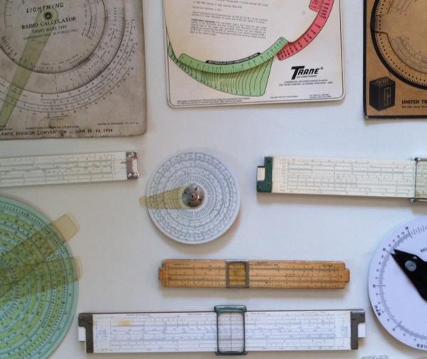 Several regular and circular slide rules