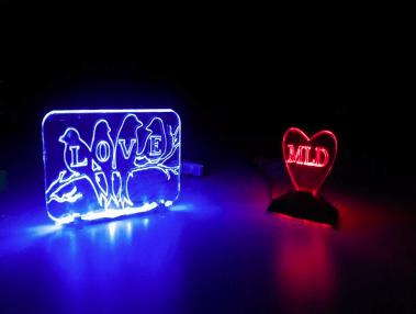 February 2, 2018, 7:30pm-9:30pm, CLASS: Laser Cut Edgelit Acrylic